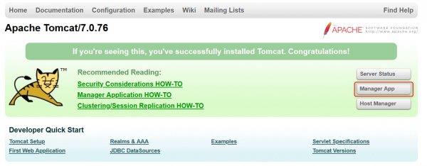 tomcat web admin